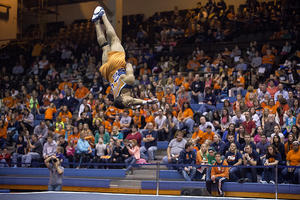 U of I gymnast flipping