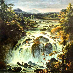 """The Imatra Waterfall in Finland"" by Fedor Matveev (1819)"